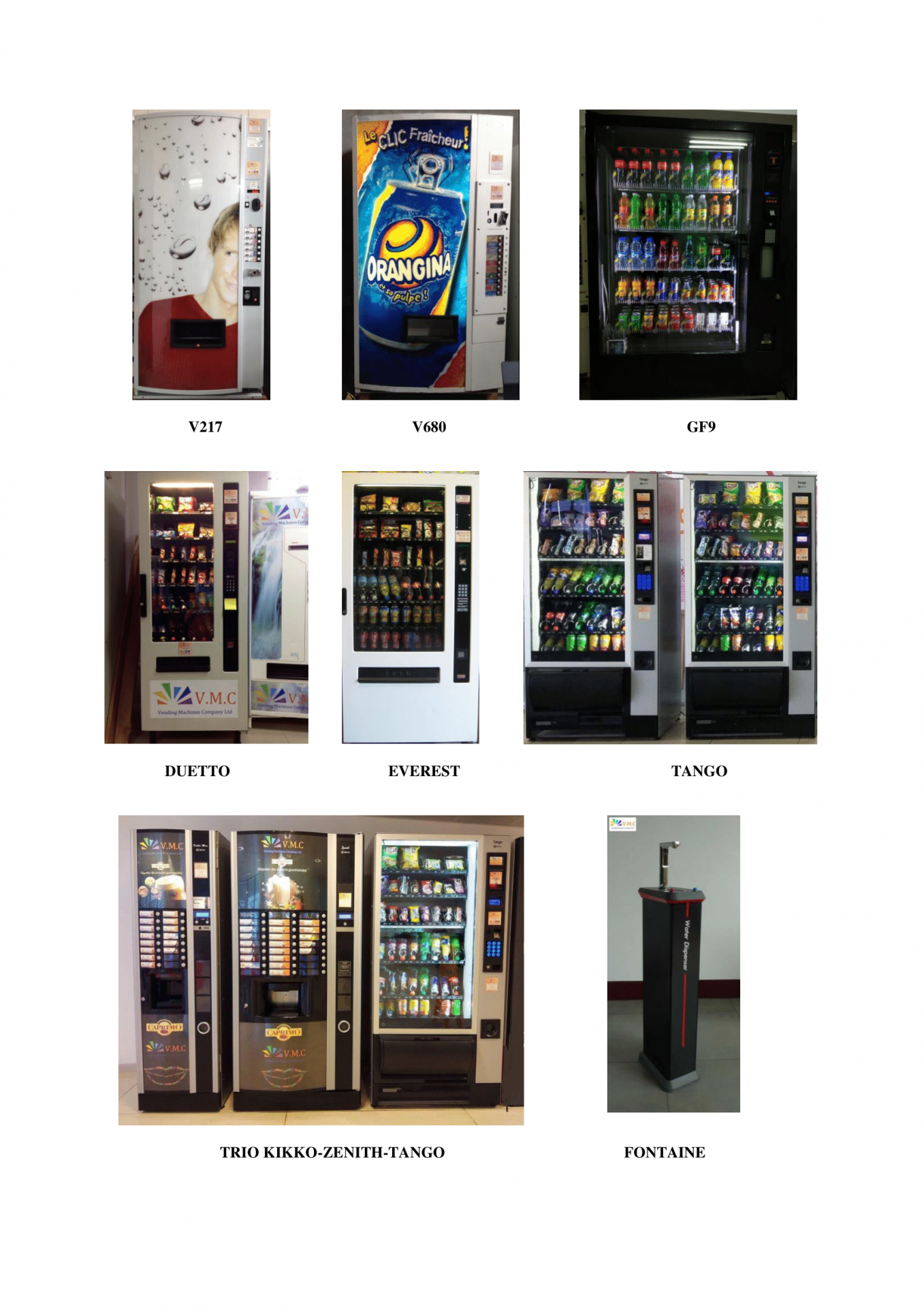 Gamme distributeurs automatiques vmc 2
